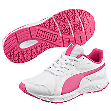 Buy Puma Children's Axis v4 Trainers, White/Pink Online at johnlewis.com