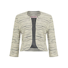 Buy Phase Eight Carley Space Dye Jacket, Black/White Online at johnlewis.com