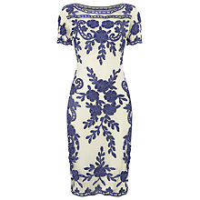 Buy Phase Eight Sienna Tapework Dress, Blue/White Online at johnlewis.com