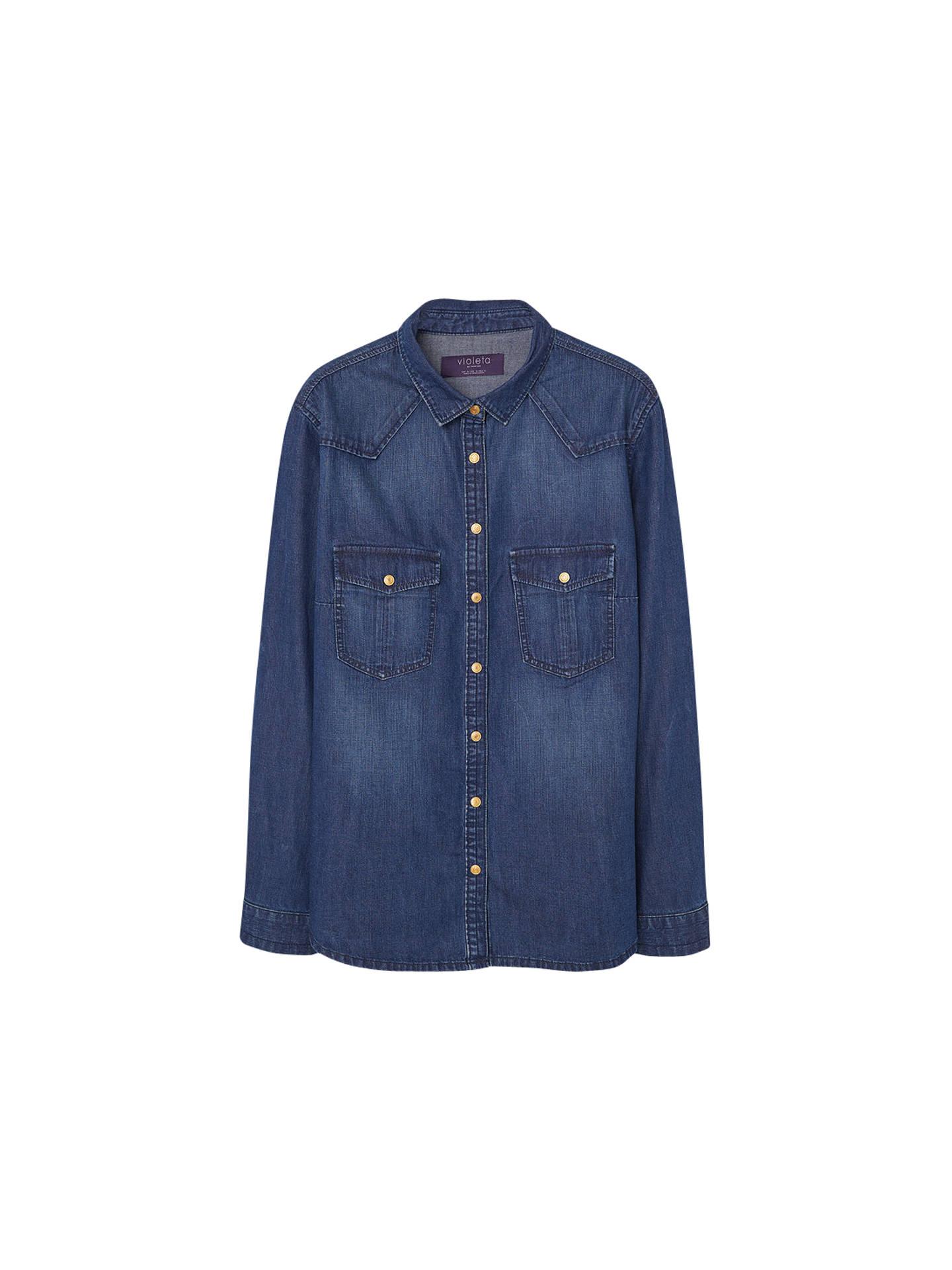 3cf1df4350f Violeta by Mango Denim Shirt at John Lewis   Partners