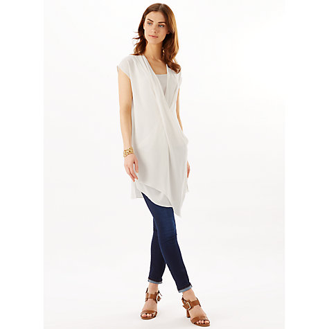 Buy Phase Eight Joanna Twist Front Tunic Top, Ivory Online at johnlewis.com