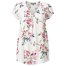 Buy Phase Eight Paradise Print Blouse, Ivory/Pink Online at johnlewis.com