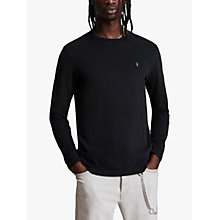 Buy AllSaints Brace Long Sleeve T-Shirt, Jet Black Online at johnlewis.com