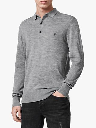 AllSaints Mode Merino Slim Knitted Polo Shirt