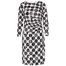 Buy Gina Bacconi Spot Print Jersey Dress, Black/Cream Online at johnlewis.com