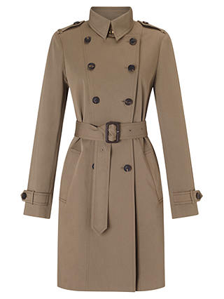 Buy Jigsaw Trench Coat, Khaki, 6 Online at johnlewis.com
