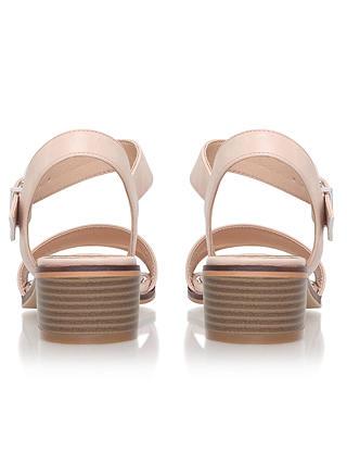 Miss KG Pablo Block Heeled Sandals, Nude at John Lewis