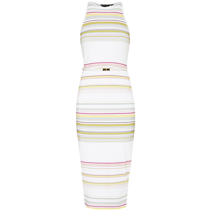 Buy Ted Baker Danabel Carousel Stripe Bodycon Midi Dress, Olive, 14 Online at johnlewis.com