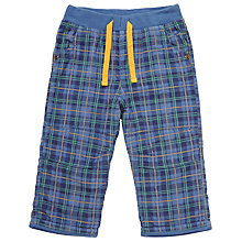 Buy John Lewis Baby Rib Waist Cord Trousers, Blue Online at johnlewis.com