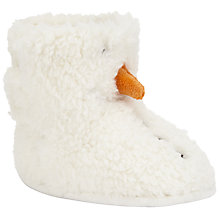 Buy John Lewis Baby Snowman Booties, White Online at johnlewis.com