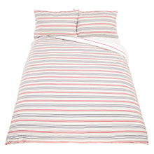Buy John Lewis The Basics Polycotton Stripes Duvet Cover and Pillowcase Set Online at johnlewis.com