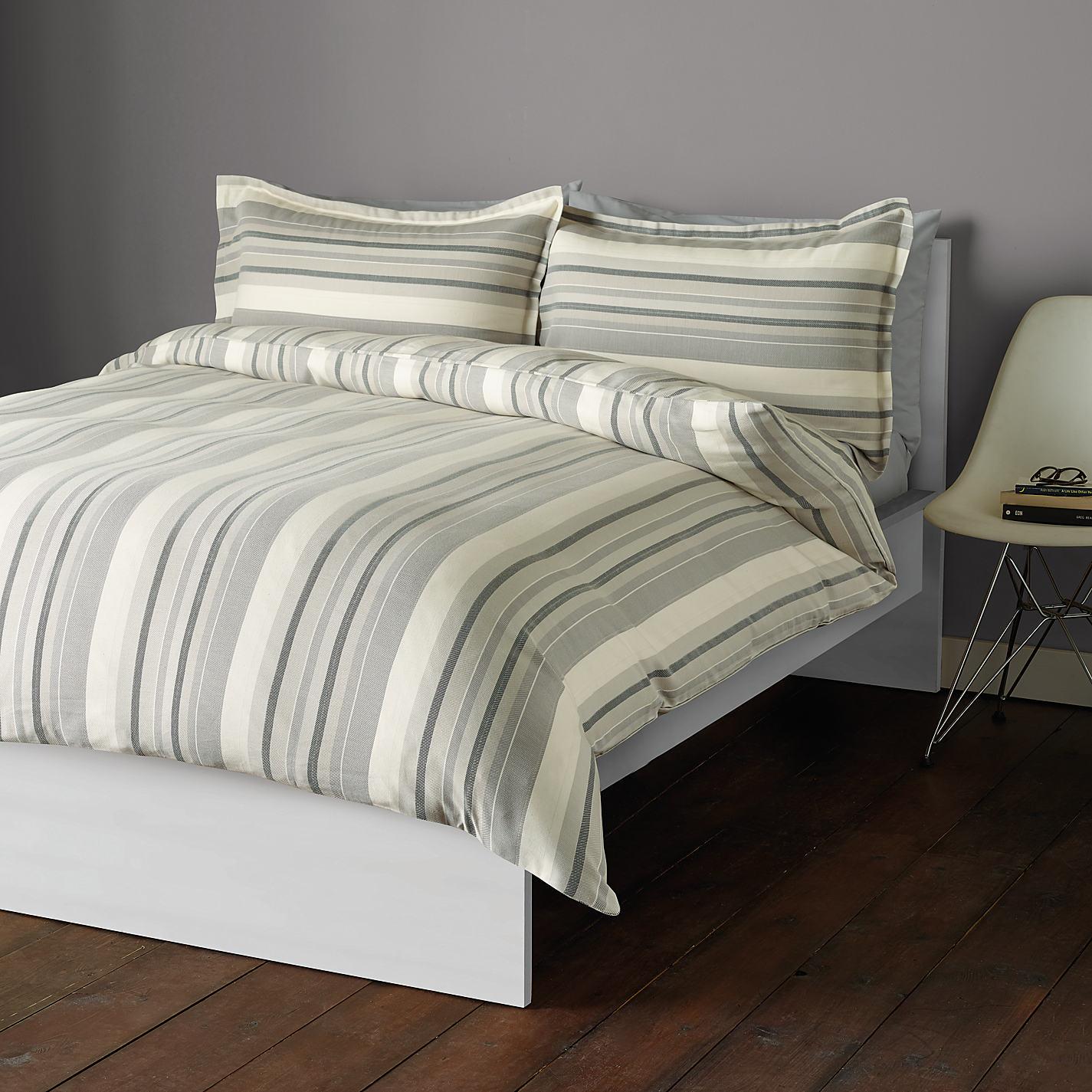 John Lewis City Stripe Cotton Bedding Online At Johnlewis