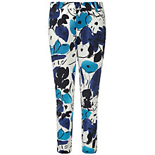 Buy Pure Collection Gabriela Capri Trousers, Blue Floral Online at johnlewis.com
