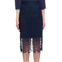 Buy Whistles Alisa Lace Skirt, Navy Online at johnlewis.com