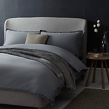 Buy John Lewis Croft Collection Fern Cotton Bedding, Steel Online at johnlewis.com