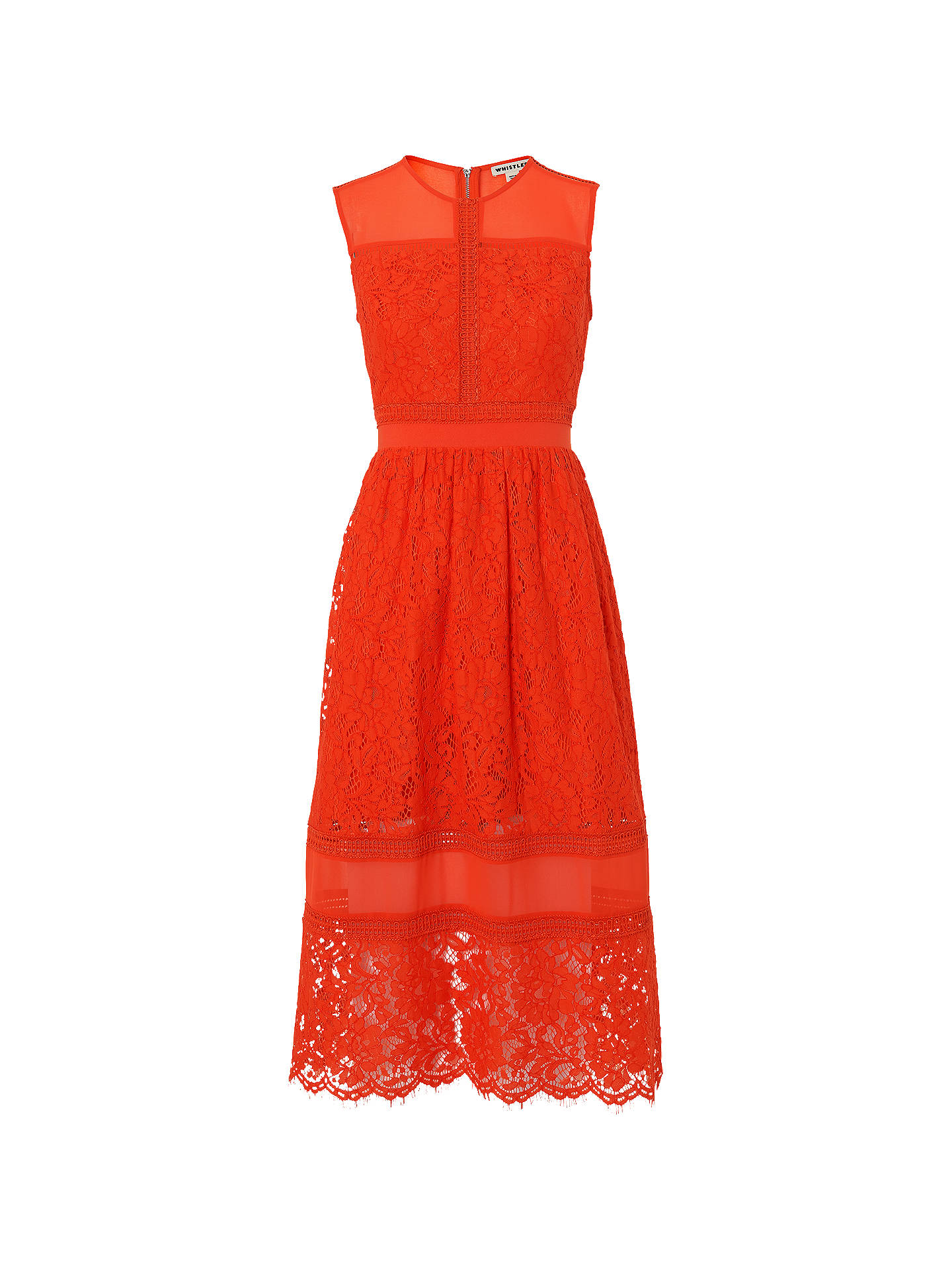 de972922 Buy Whistles Amelia Lace Dress, Orange, 6 Online at johnlewis.com ...