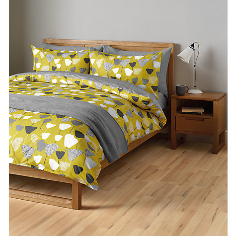 John Lewis Elin Duvet Cover And Pillowcase Set Citrine Online At Johnlewis