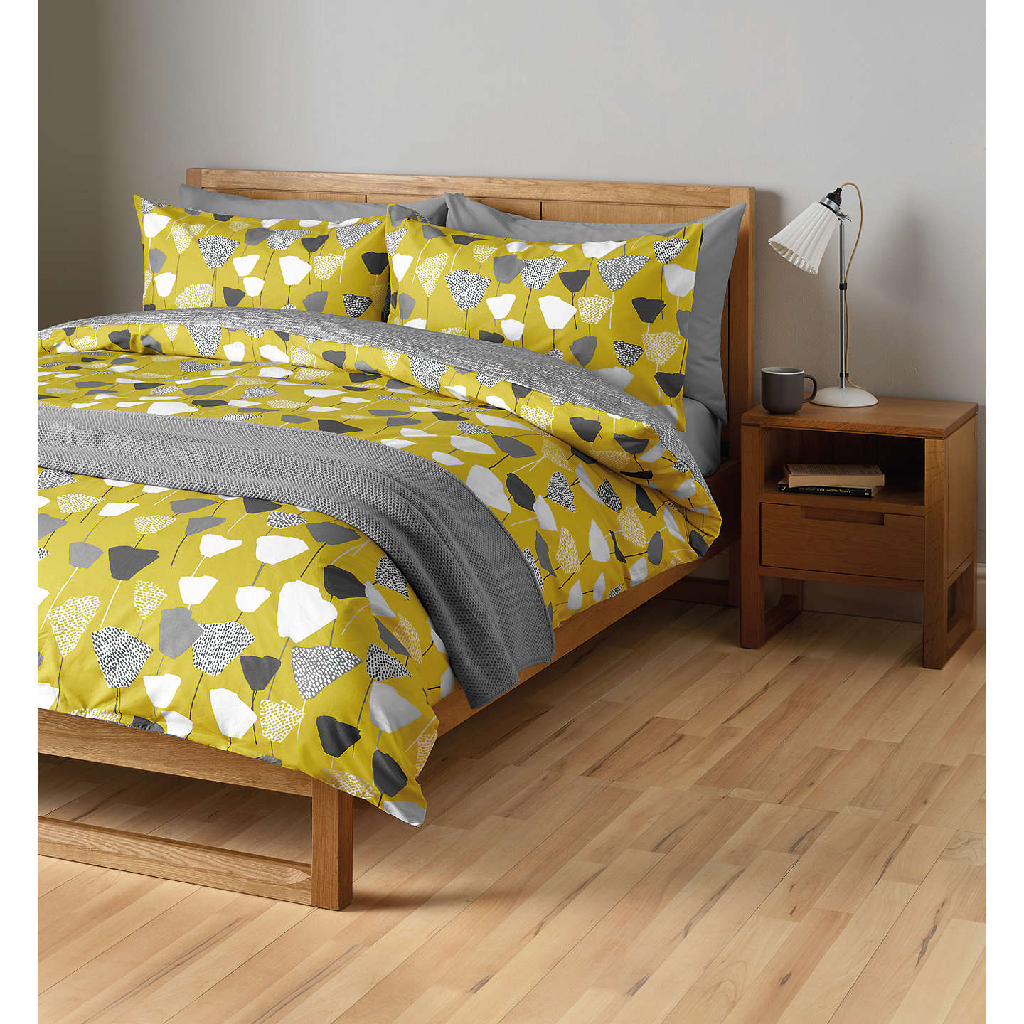 John Lewis Elin Duvet Cover And Pillowcase Set Single Citrine Online At Johnlewis