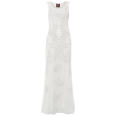 Raishma Floral Embellished Gown, White