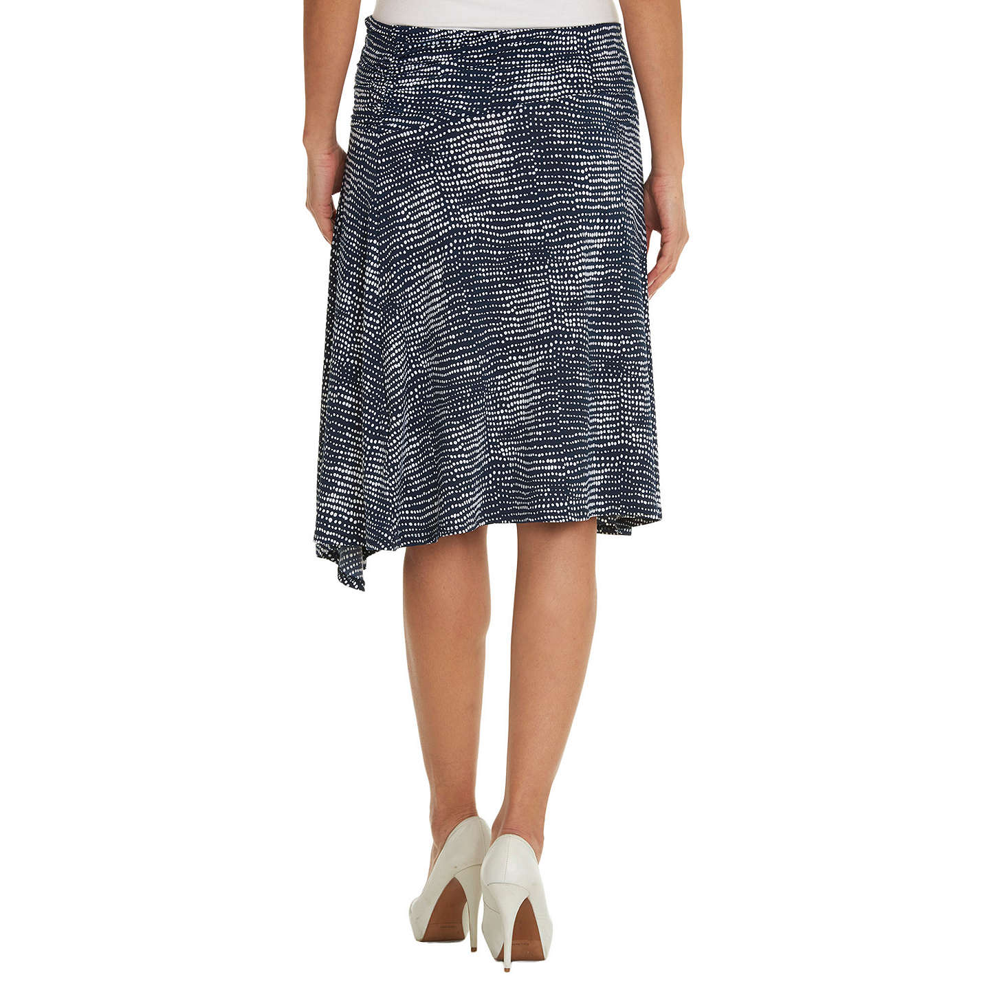 BuyBetty Barclay Printed Skirt, Dark Blue/White, 8 Online at johnlewis.com