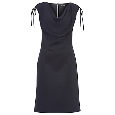 Betty Barclay Crepe And Jersey Dress, Navy