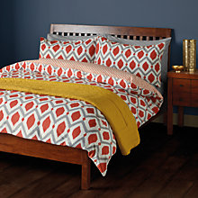 Buy John Lewis Indah Cotton Duvet Cover and Pillowcase Set, Paprika Online at johnlewis.com