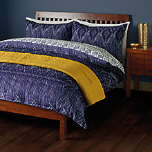 Buy John Lewis Fusion Tangiers Duvet Cover and Pillowcase Set, Indigo Online at johnlewis.com