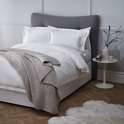 John Lewis Garda Lattice Stitch Egyptian Cotton 400 Thread Count Bedding