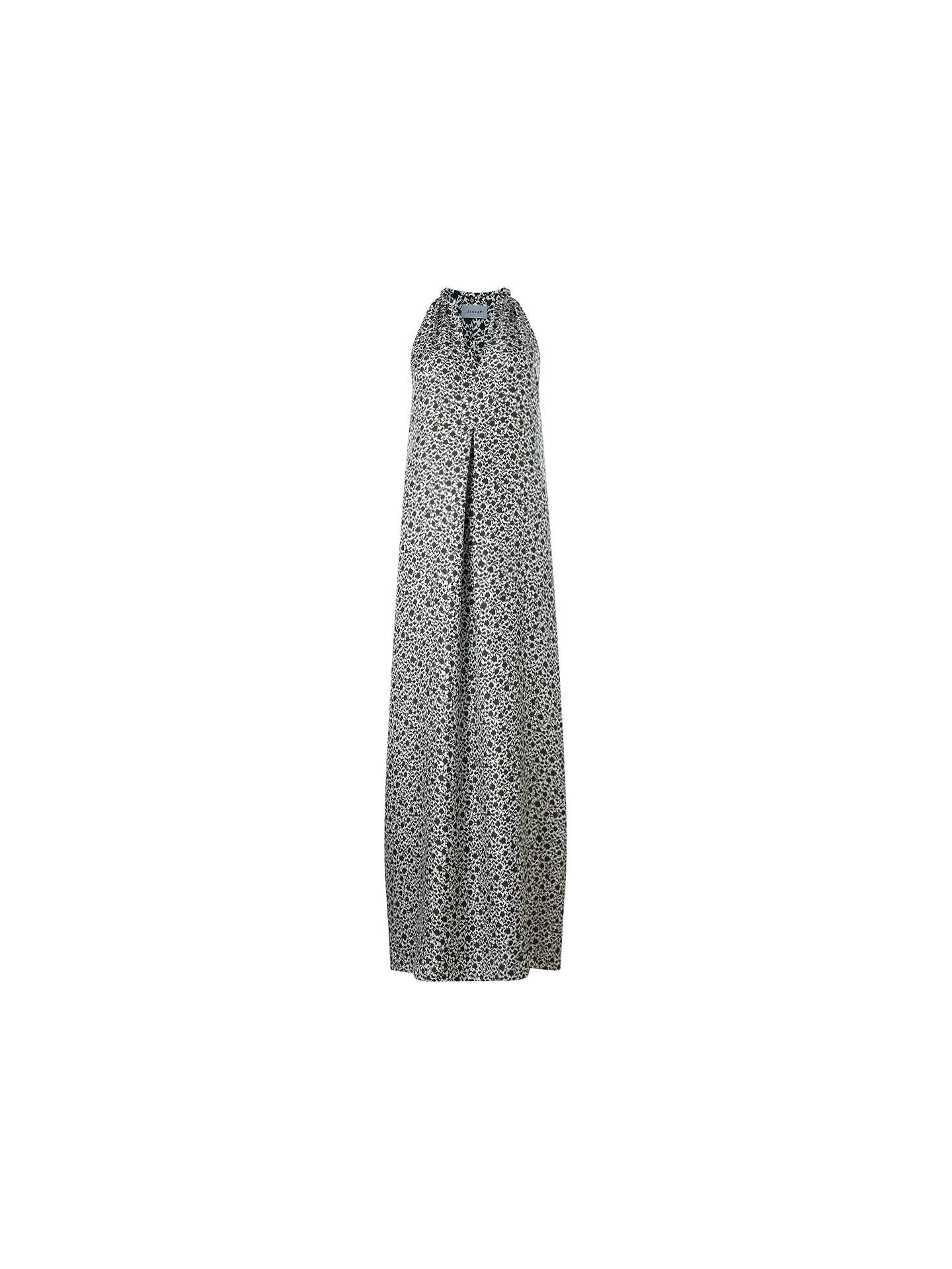 fe81a50f8de6d Jigsaw Ikat Floral Silk Maxi Dress, Green at John Lewis & Partners