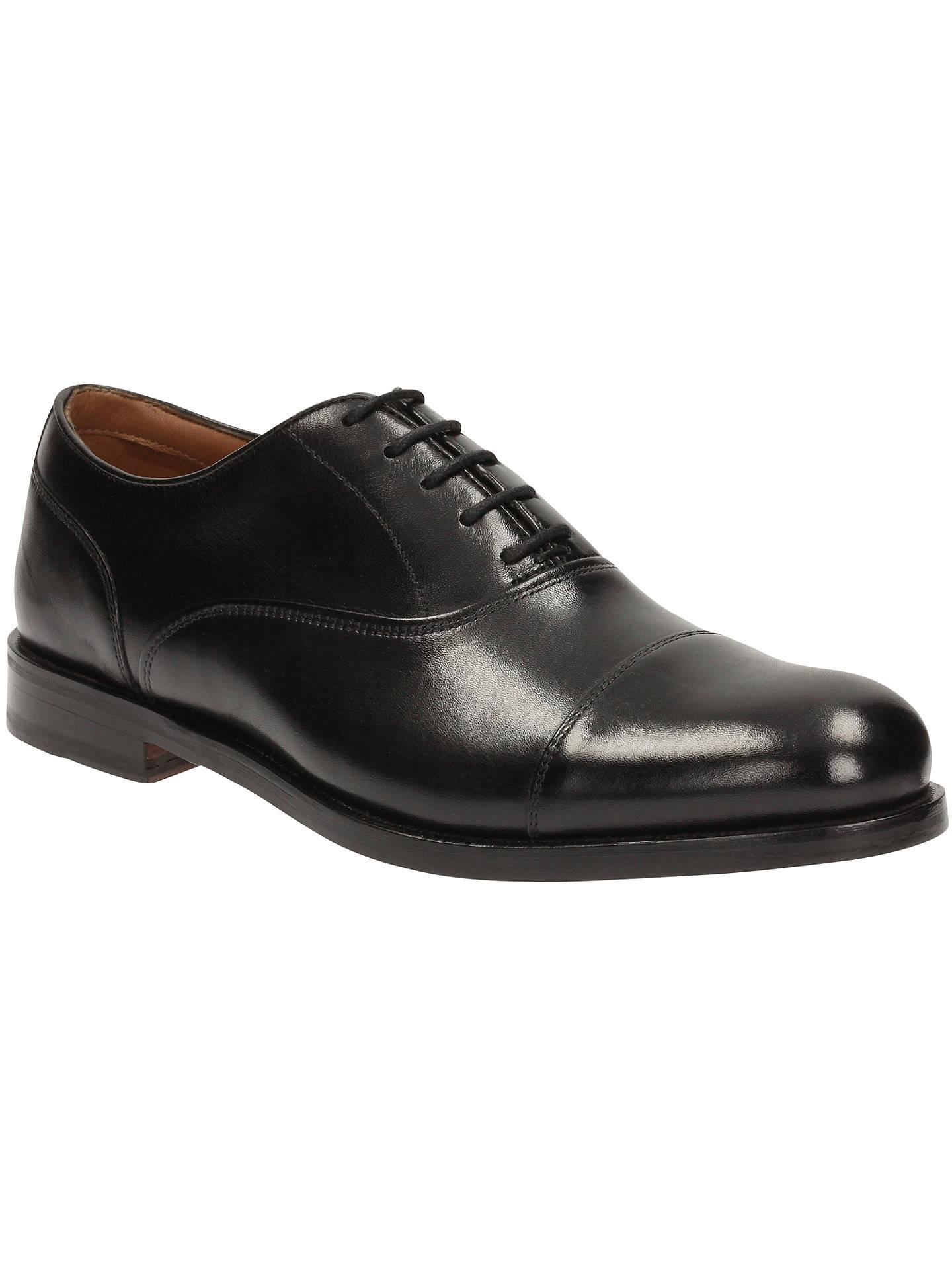 6cd2f6ed Clark Coling Boss Oxford Shoe, Black at John Lewis & Partners