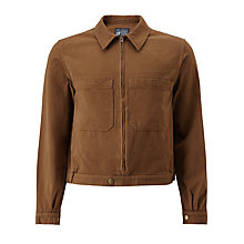 Buy JOHN LEWIS & Co. Made in Manchester Garment Wash Bomber Jacket, Khaki Online at johnlewis.com