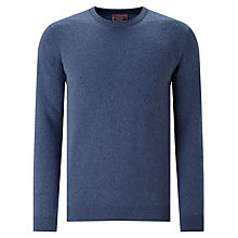 Buy John Lewis Made In Italy Cashmere Crew Neck Jumper, Airforce Blue Online at johnlewis.com