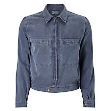 Buy JOHN LEWIS & Co. Made in Manchester Garment Wash Bomber Jacket, Navy Online at johnlewis.com