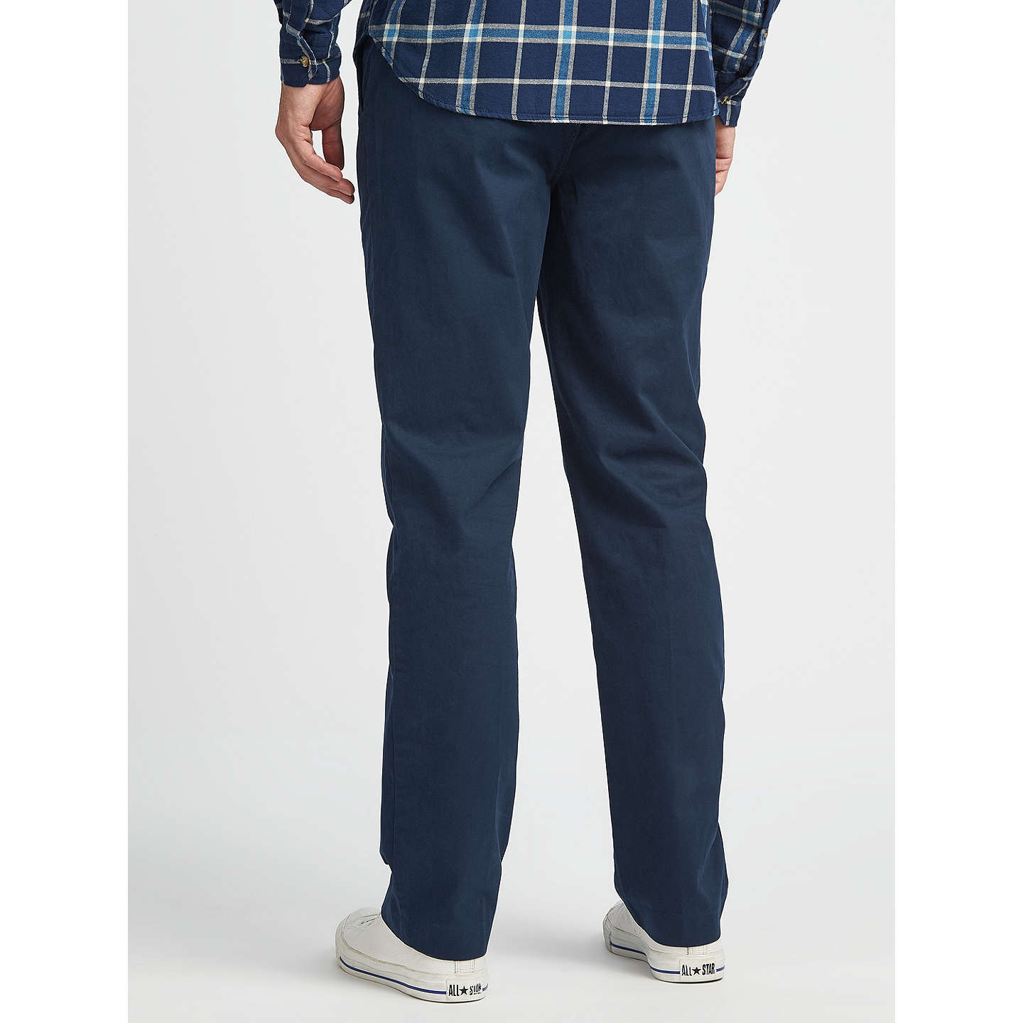 BuyJohn Lewis Lumsden Cotton Chinos, Navy, 32S Online at johnlewis.com