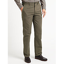 Buy John Lewis Pinpoint Cotton Trousers, Brown Online at johnlewis.com