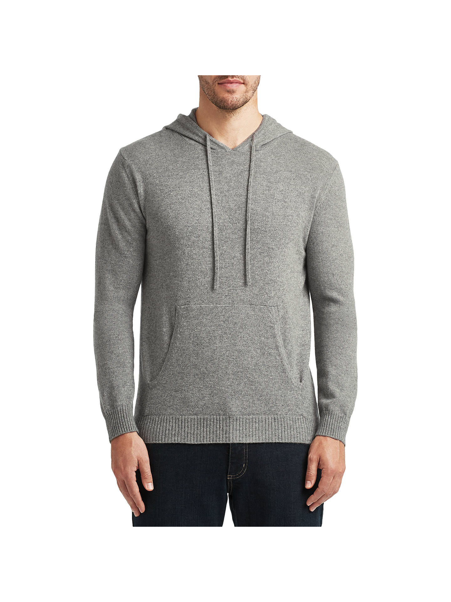 Buy John Lewis Made in Italy Premium Cashmere Hoodie, Grey, S Online at johnlewis.com