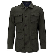 Buy JOHN LEWIS & Co. Halley Stevenson Waxed Twill Jacket, Olive Online at johnlewis.com