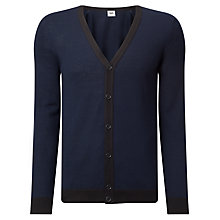Buy Kin by John Lewis Made in Italy Merino Blend Cardigan, Navy Online at johnlewis.com