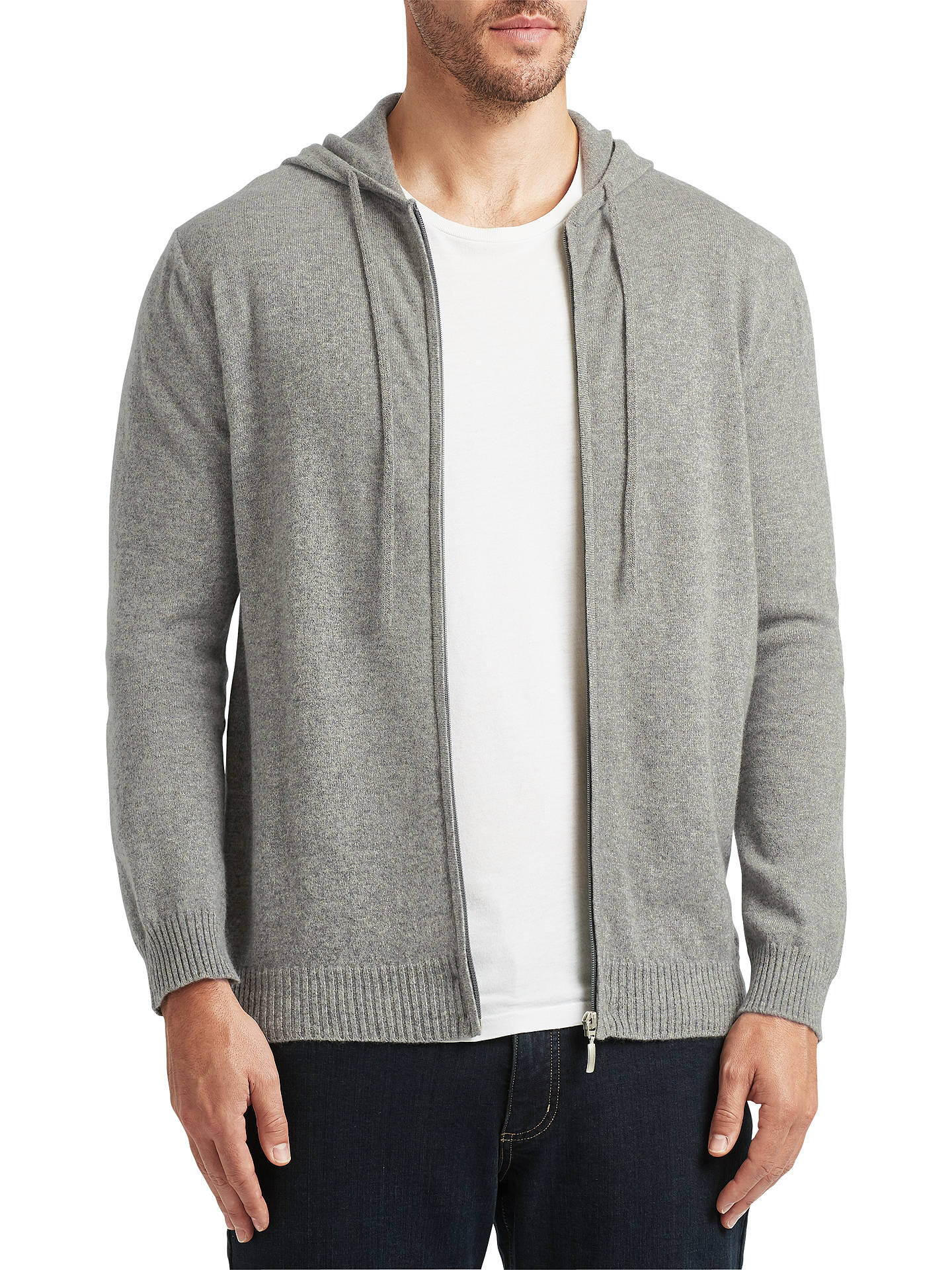 BuyJohn Lewis Made in Italy Premium Cashmere Hoodie, Grey, S Online at johnlewis.com