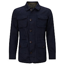 Buy JOHN LEWIS & Co. Halley Stevenson Waxed Twill Jacket, Navy Online at johnlewis.com