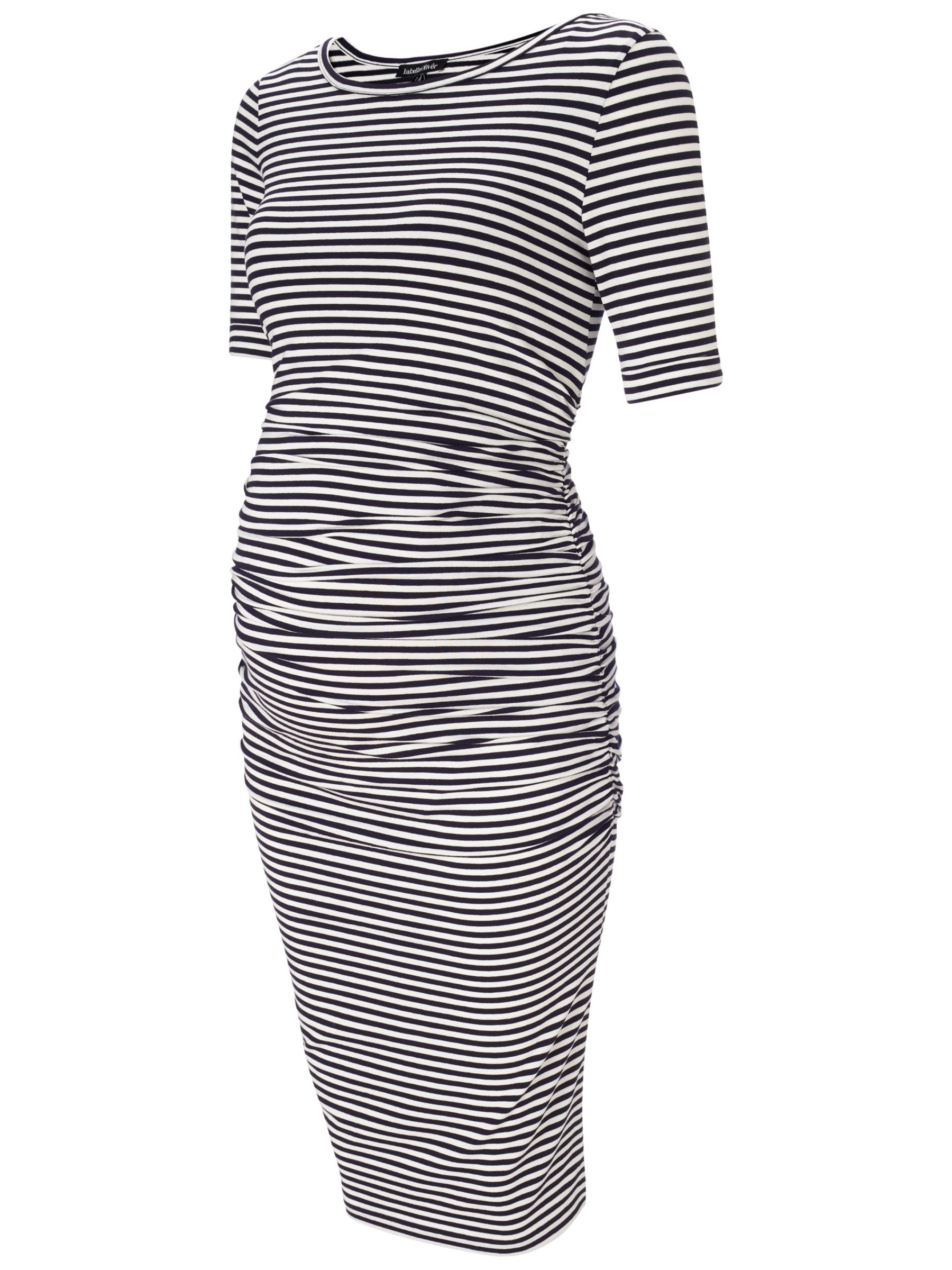 e5da9c414e1 Isabella Oliver Arlington Stripe Dress, Navy/White at John Lewis ...