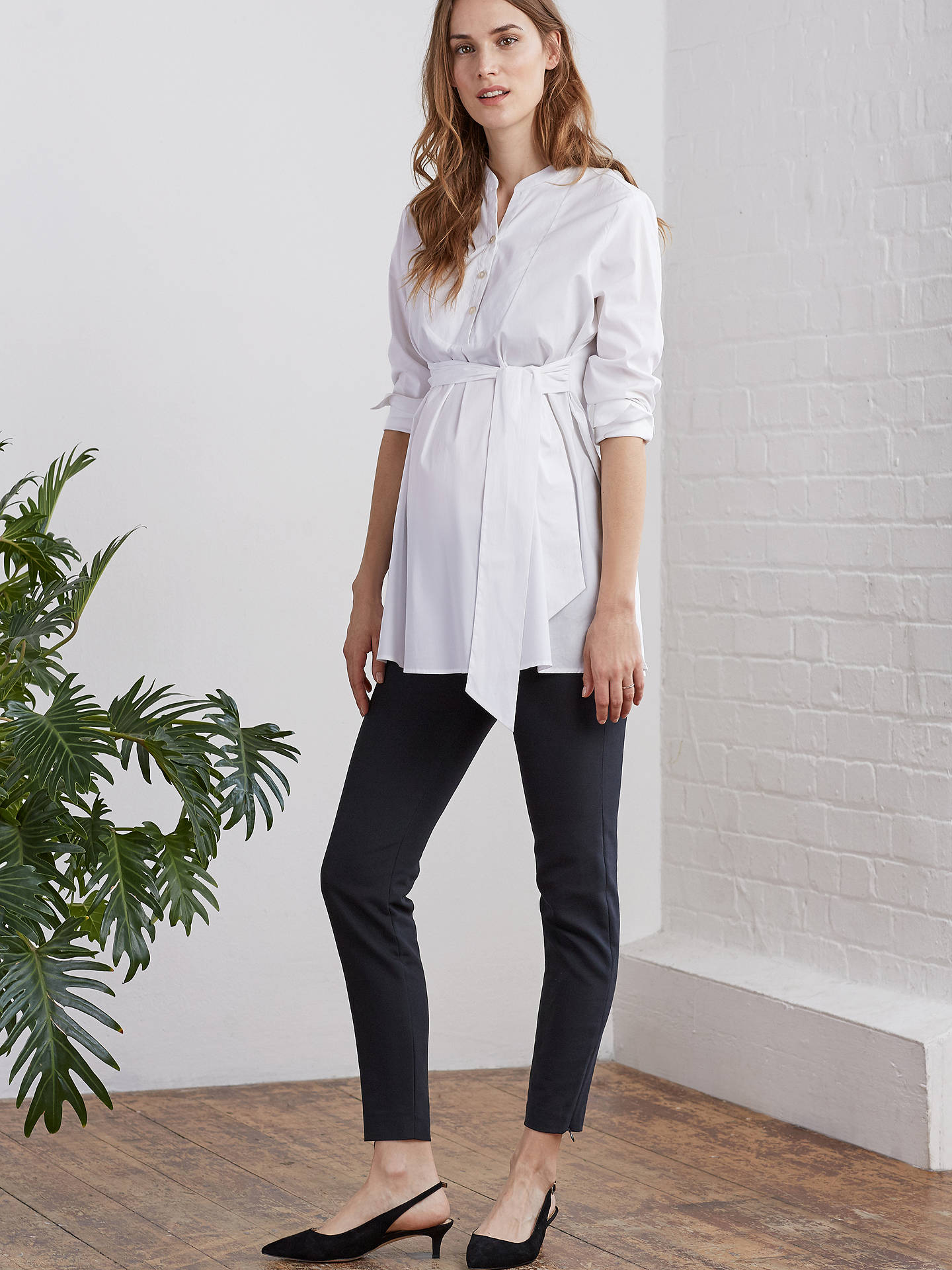 BuyIsabella Oliver Granville Maternity Shirt, Pure White, 8 Online at johnlewis.com