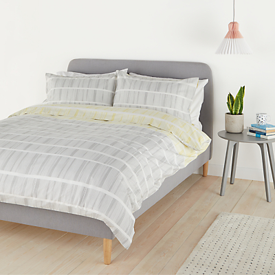 House by John Lewis Lines Duvet Cover and Pillowcase Set