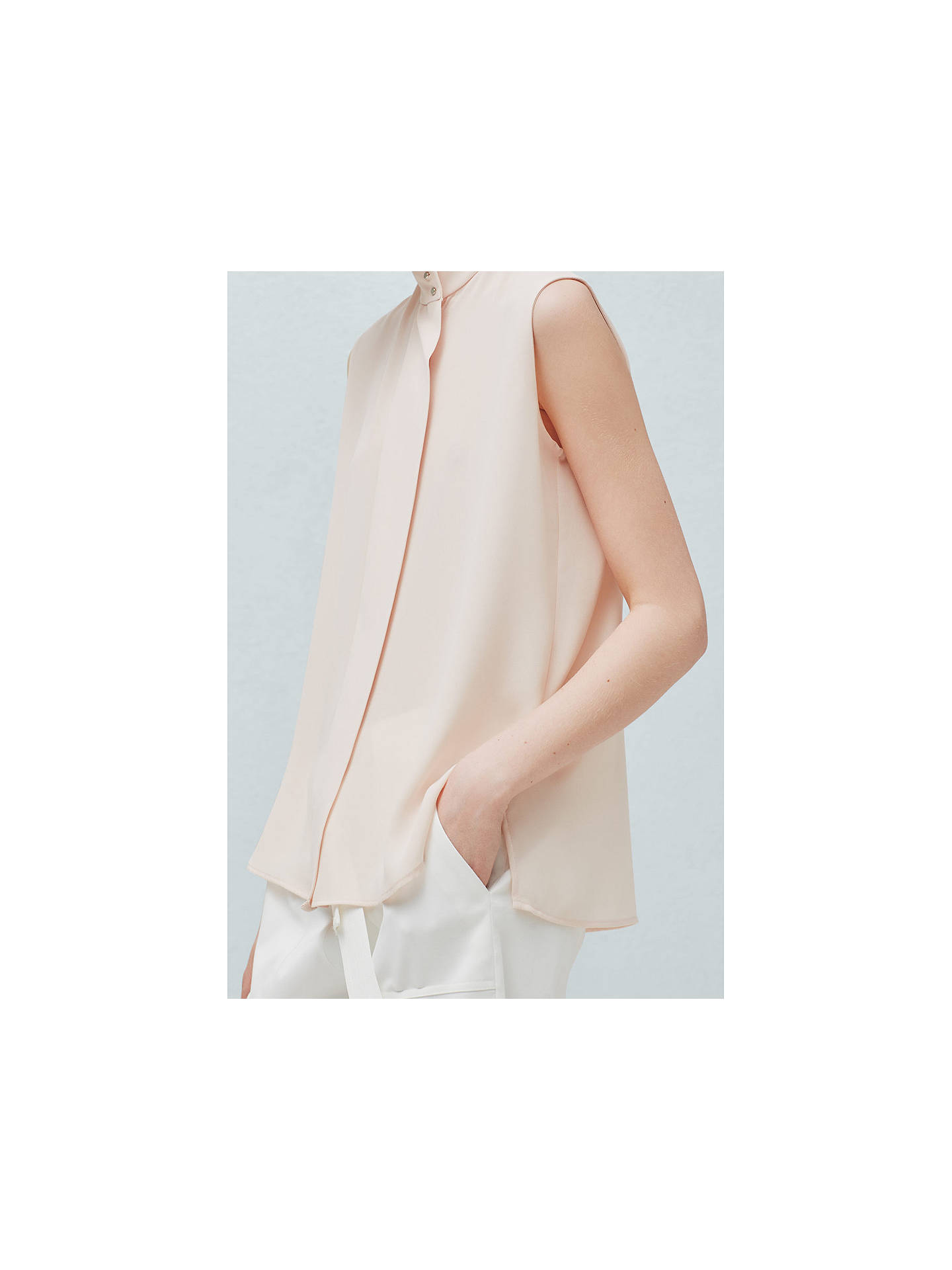 Buy Mango Sleeveless Flowy Blouse, Pastel Pink, 6 Online at johnlewis.com