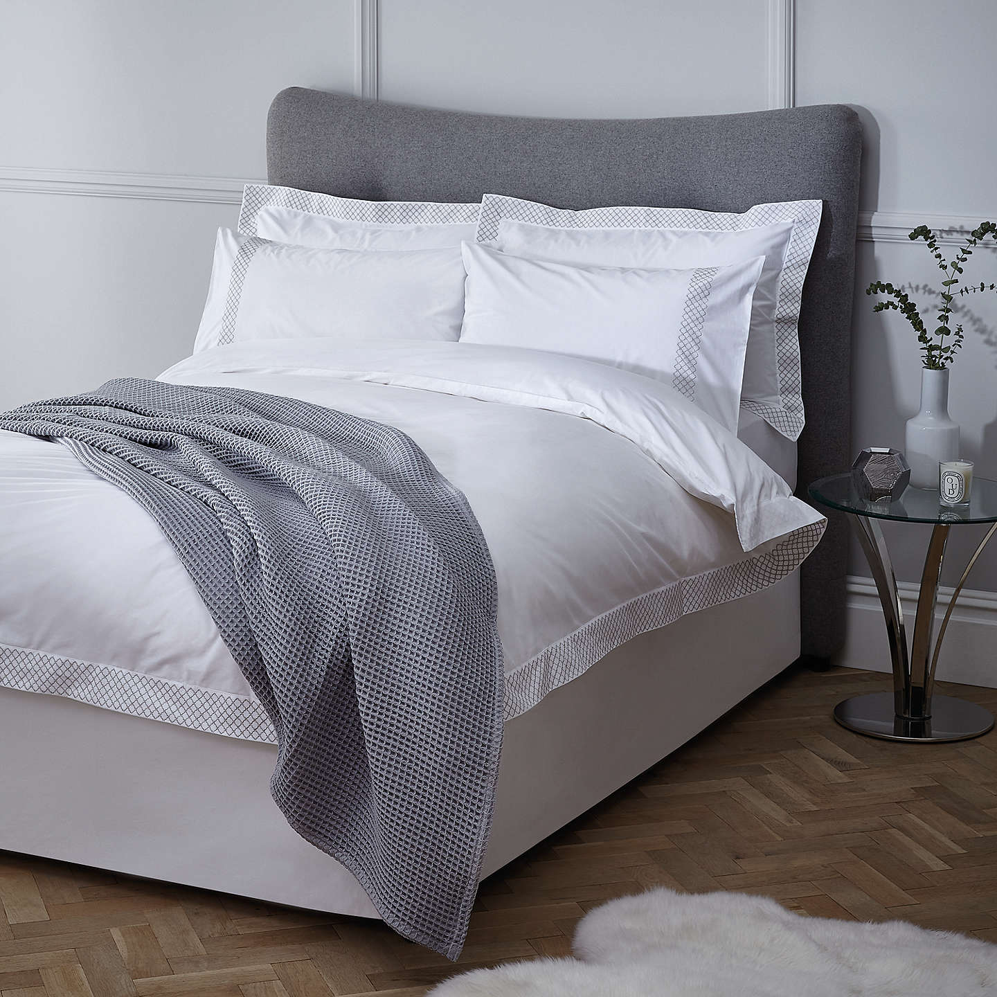 john lewis rome embroidered cotton bedding at john lewis. Black Bedroom Furniture Sets. Home Design Ideas