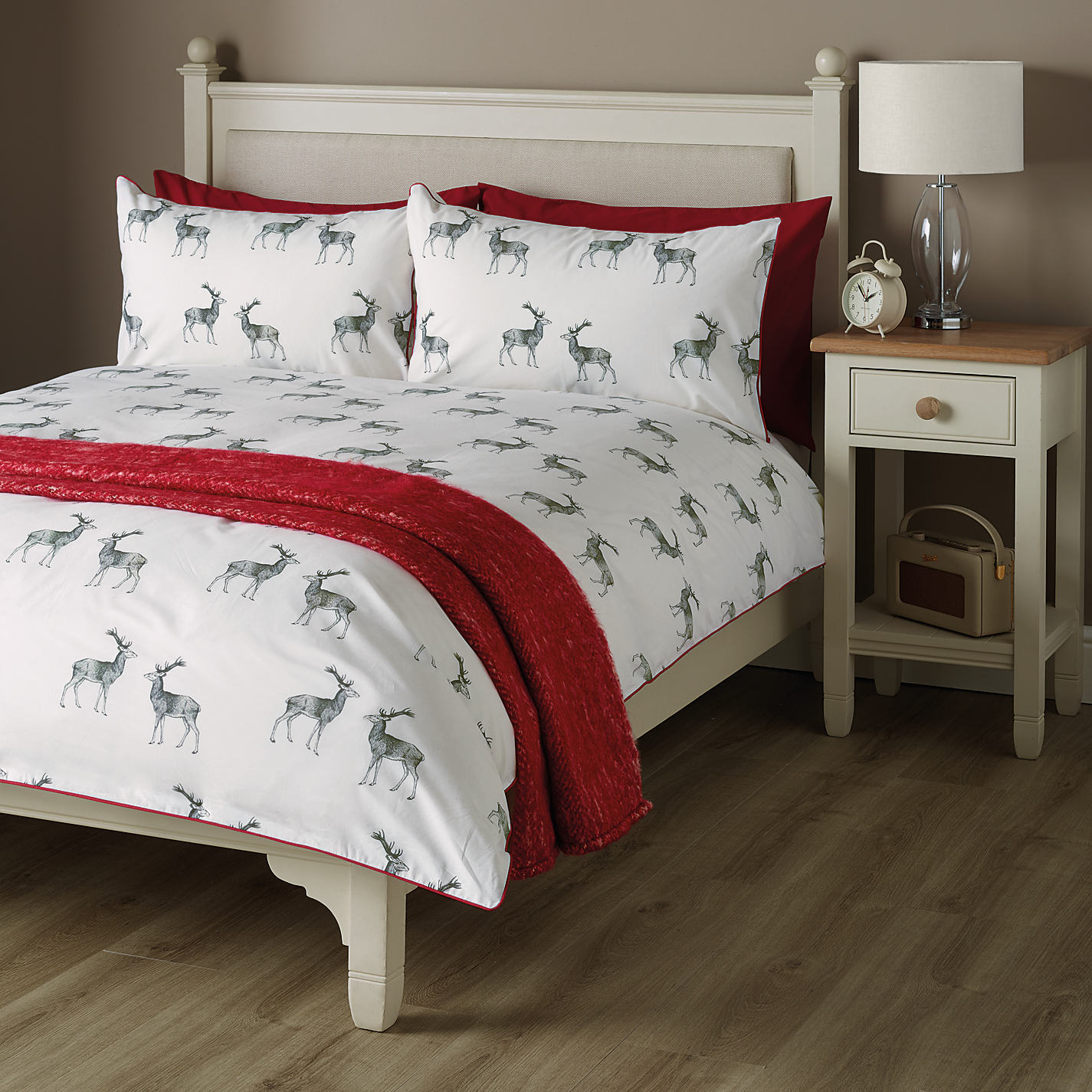 John Lewis Stag Print Duvet Cover And Pillowcase Set Online At Johnlewis
