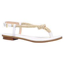 Buy MICHAEL Michael Kors Holly Toe Post Sandals, White Online at johnlewis.com