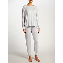 Buy John Lewis Oversized Jersey Lounge Top, Grey Stripe Online at johnlewis.com