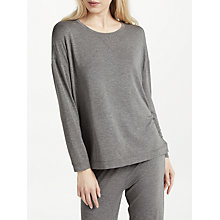 Buy John Lewis Oversized Jersey Lounge Top, Charcoal Online at johnlewis.com