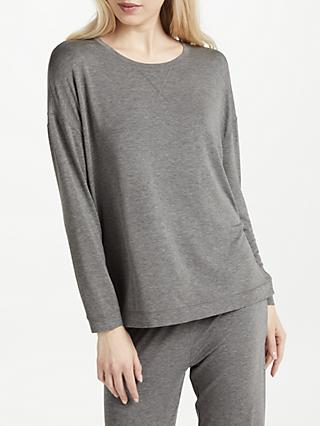 John Lewis & Partners Oversized Jersey Lounge Top, Charcoal